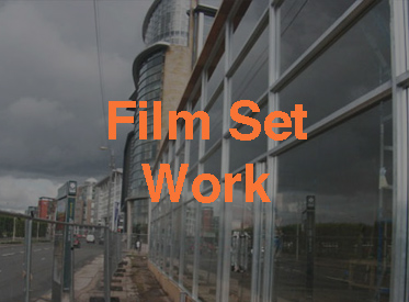 Film set work with Maidenhead Glass